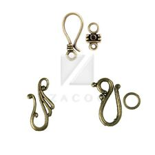 30-60pcs DIY Lots Antique Brass Hook & Eye Clasp for Jewelry Making 3 Style