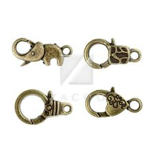 10-20pcs Lobster Claw Clasps Antique Brass Other/Elephant/Heart Jewelry Findings