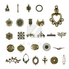 27 Style 3-100pcs Lots Antitue Brass Metal Links Connector Jewelry Findings