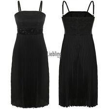 New Women Sexy Sequins Spaghetti Strap Cocktail Strapless Pleated Dress LEBB