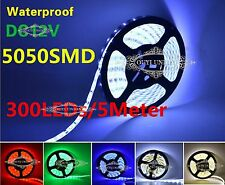 XMAS LED Strip Lamp 5M/PC 300LEDs SMD 5050 Waterproof IP65 Light DC 12V Power