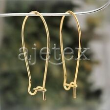 67pcs Gold Nickel Plated surgical steel kidney ear wires Earring Makings 35x15