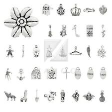 20-150pcs Tibetan Silver Spacer Metal Pendant Charm Jewelry Findings 40 Style