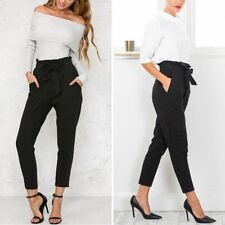 OL Casual Bow-knot Skinny Long Trousers Slim Comfy Harem Fashion Slim Pants