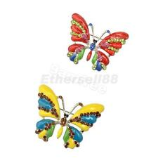 Crystal Rhinestone Butterfly Zinc Alloy Charm Brooches Pin Party Jewelry Gifts