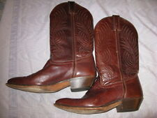 CODE WEST BROWN LEATHER COWBOY BOOTS, WOMAN'S 8 ½ M