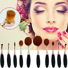 More Style Oval Toothbrush Lip Powder Blusher Foundation Eyebrow  Makeup Brush