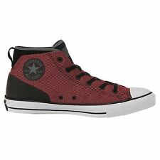 Converse CT All Star Syde Street Mid Black Red Womens High Top Trainers