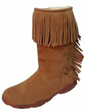 Twisted X Western Boots Womens Driving Moccasin Fringe Suede WDB0002
