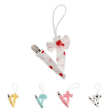 Baby Newborn Bow Pacifier Clip Chain Strap Girls Dummy Soother Nipple Holder