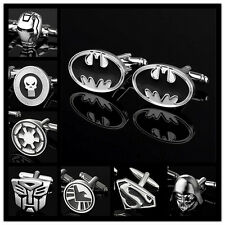 Men's Comics Cufflinks Superhero Justice League The Avengers Party Wedding Gift