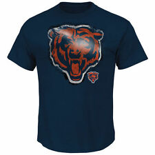 Chicago Bears Majestic Line to Gain III T-Shirt - Navy Blue - NFL