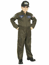 Air Force Fighter Pilot Flight Suit Military Aviator Dress Up Boys Costume