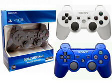 Brand New Wireless DualShock3 Controller for Sony PlayStation 3 -Black Whit Blue