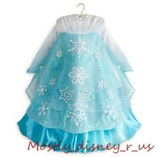 NEW Disney Store Frozen Princess Queen Elsa Deluxe Edition Costume Gown Dress