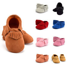 Kids Girl Baby Shoes Infant Toddler Tassel Soft Sole Round Toe Prewalker Shoes