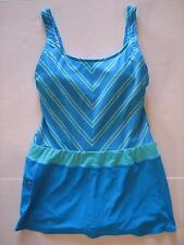 NEW BEACH HOUSE Avery Tennis Boyshort Swimdress Swim Bathing Suit Sky Chevron