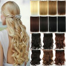 US Lady One Piece 3/4 Full Head Clip In Hair Extensions Real As Human Remy Tk5