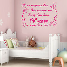 NEW Princess Quote Lettering Saying Girl Baby Nursery Bedroom Wall Sticker Decal