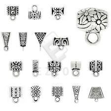 3-400pcs Antique Tibetan Silver Slider Spacer Bail Connector Jewelry Findings YB