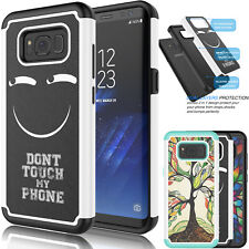 Hybrid Impact Rubber Defender Hard Case Cover for Samsung Galaxy S8 / S8 Plus +