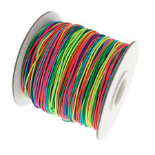 1mm Round Nylon Beading Elastic Cord Rainbow Multi Coloured 1M to 100M