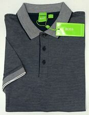 NWT $125 Hugo Boss Modern Fit Navy Stripe Polo Shirt C-Janis Men M L Blue SS NEW