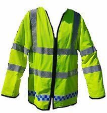 Ex Police Hi Viz Lightweight Over Waist Coat Traffic Cycle Recovery Security L02