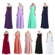 Women Sexy Chiffon Bridesmaid Dress Long Maxi Evening Party Prom Gown Wedding