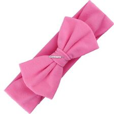 New Baby Solid Headband Bow Headband Bow Hair Band Girls Accessories ES9P01