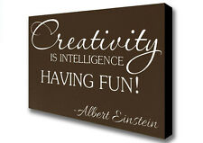 Albert Einstein Creativity Is Intelligence Chocolate Canvas XL (26x40in) 09783