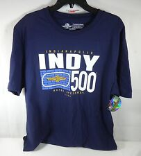 New Indy 500 Indianapolis Motor Speedway IMS Logo Collector T-Shirt Blue
