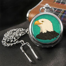 Bald Eagle Bird Pocket Watch