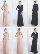NEW FORMAL EVENING LONG GOWN MOTHER of THE BRIDE GROOM DRESS CHURCH & PLUS SIZE