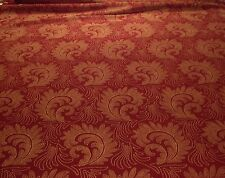 "LEE JOFA DAVID EASTON RUBY ""STONEHOUSE VELVET"" ITALIAN PAISLEY VELVET FABRIC"