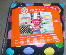 littlemissmatched Bed in a Bag Set Size Full Brand New in Package Dots & Stripes