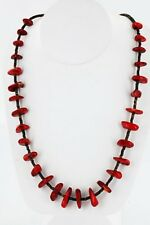 Large $250Tag Silver Navajo Graduated Coral Native American Necklace