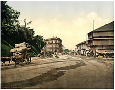 Singapour, Singapore. Boustead Institute.  PZ vintage photochromie, photochrom