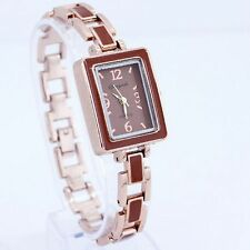 Square Color Band Stainless Steel  Lady Women Quartz Fashion Wrist Watch O20