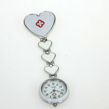 10pcs Wholesale Heart Pin Brooch Nurse Doctor Student Quartz Watch Gift GL13T