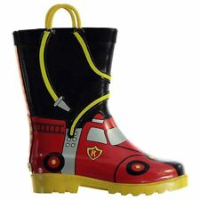 Muck Boot Kids Chief Fire Boys Wellies Wellingtons Horse Riding Equestrian Shoes