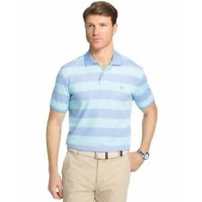 Izod Men's The Advantage Striped Blue Radiance Short Sleeve Polo Shirt