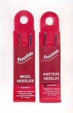 Pack of 2 Wool / Knitters Needle with Large Eye Hand Sewing Darning Embroidery