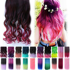 New Fashion Womens Long Curly Wavy Hair Full Wigs Cosplay Party Straight Wigs