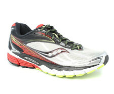 Saucony Ride 8 Grey/Red/Black Shoes Mens M New $120
