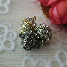 10/20pcs 19mm Round Crystal Rhinestone Strong Magnetic Clasps Jewelry Findings
