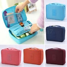UK Girl Wash Bag Toiletry Cosmetic Travel Make Up Hanging Folding Case Organizer