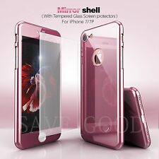 Hybrid 360° Electroplating Acrylic Hard Case Cover Skin for iPhone 6S 7 Plus 5.5