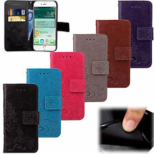 Luxury PU Leather Wallet Flip Magnetic Card Slot Pouch Cover Case For iPhone