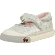 See Kai Run Toddler Girl's Marie Silver Glitter Mary Janes Shoes